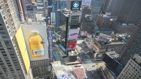 New york city times square timelapse stock video