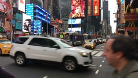 The New York City Times Square stock video footage