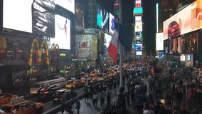 The New York City Times Square stock footage