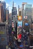 New York City Times Square von oben Stockfotografie