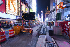 NEW YORK CITY Times Squarerekonstruktion Royaltyfri Fotografi