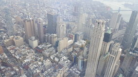 New York city top view. Picture from the one world Trade Center overlooking new york city Stock Photo