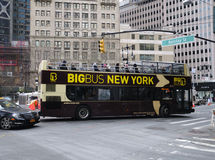 New York City Tour Bus Royalty Free Stock Photo