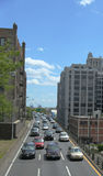 New York City traffic on Brooklyn-Queens Expressway Royalty Free Stock Photography
