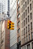 New York City Traffic Light Royalty Free Stock Photo