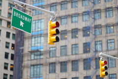 New York city traffic lights Stock Image