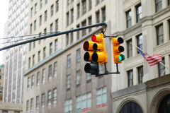New York city traffic lights Royalty Free Stock Photos
