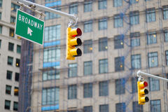 New York city traffic lights Royalty Free Stock Image