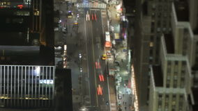 New York city traffic at night stock video footage