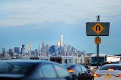 New York City trafik i rusningstid Arkivfoto