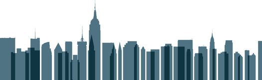 New York City Transparent Skyline Stock Image