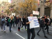 New York City; Trumfprotest royaltyfria foton