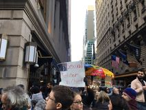 New York City; Trumfprotest Arkivfoto