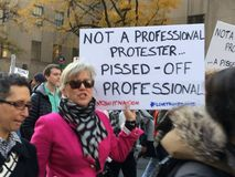 New York City; Trump protest Royalty Free Stock Photos