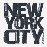 New York City Typography design Stock Photography