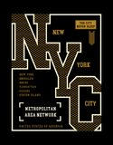 New York City typography design for tshirt print. Sports, athletic t-shirt graphics, vector image illustrations Royalty Free Stock Images