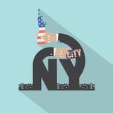 New York City Typography Design Stock Image