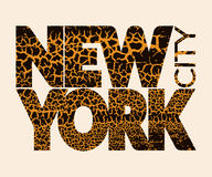 New York city Typography Graphic. Craquelure Stock Photos
