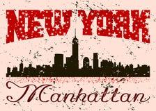 New York city Typography Graphic with grunge. Retro Royalty Free Stock Photo