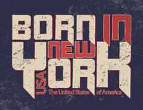 New York city Typography Graphic Guote BORN Royalty Free Stock Images