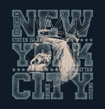 New York City Typography Graphics Stock Photos