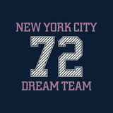 New york city typography, t-shirt graphics, dream team. Vector i Stock Photos
