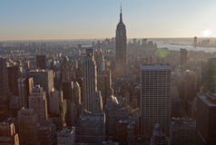 New York City und Empire State Building Stockfotografie