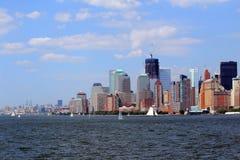 New York City und Hafen lizenzfreie stockfotografie