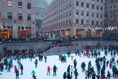 New York City, une estados - dezembro, 9o, 2017 Foto de Stock Royalty Free