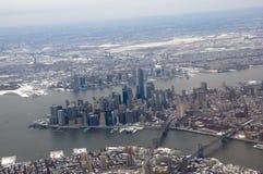 New York City - une vue aérienne Image libre de droits