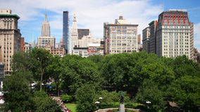 New york city union square high view 4k time lapse from usa. New york city union square high view 4k time lapse stock video footage