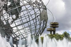 Unisphere, New York City. New York City. The Unisphere, a spherical stainless steel representation of the Earth in Flushing Meadows Corona Park, Queens, with the stock photos