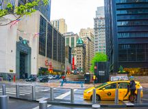 New York City, United States of America - May 01,2016: People walk by Century 21 department store in Manhattan, New York Royalty Free Stock Photography