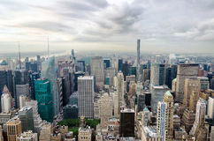 New York city, United States. Panoramic view of Manhattan skylin Royalty Free Stock Images
