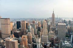 New York city, United States. Panoramic view of Manhattan skylin. E and buildings Stock Photography