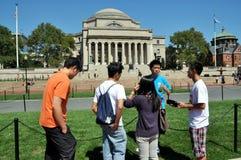 New York City: Universität von Columbias-Kursteilnehmer Lizenzfreie Stockfotos
