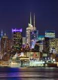 New York City Uptown in the night Stock Photo