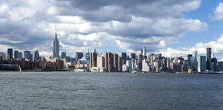The New York City Uptown skyline Royalty Free Stock Photography