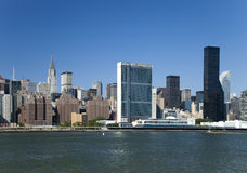 The New York City Uptown skyline Stock Images