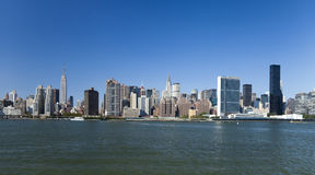 The New York City Uptown skyline Stock Image