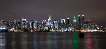 The New York City Uptown skyline Royalty Free Stock Photo