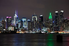 The New York City Uptown skyline Royalty Free Stock Photos