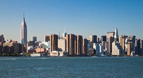 New York City Uptown skyline Royalty Free Stock Photo