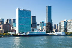 New York City, Uptown, United Nations Central Office Royalty Free Stock Photography