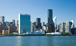 New York City, Uptown, United Nations Central Office Royalty Free Stock Photos