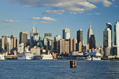 The New York City Uptown skyline at the afternoon Royalty Free Stock Photography