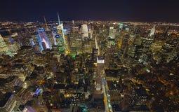 NEW YORK CITY, uptownen och tider kvadrerar Arkivfoto