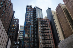 New York city urban residential building Royalty Free Stock Images
