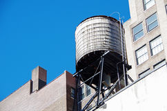 New York City urban water towers and rooftops Royalty Free Stock Photos