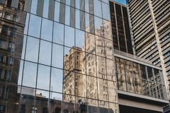 New York City Urbanism contrast new vs old office buildings Stock Photography